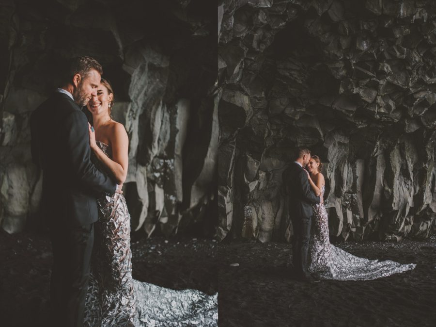 styled wedding pictures, black rock cave,Styled Elopement Pictures in Iceland