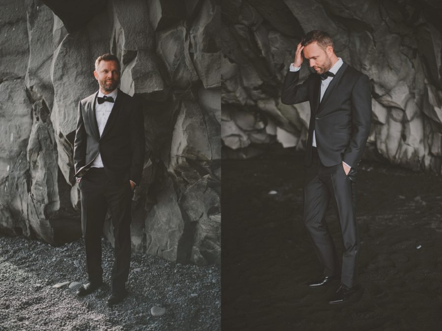 picture of groom, portraits of just groom, Styled Elopement Pictures in Iceland