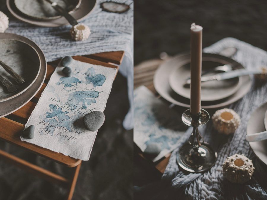 intimate dinner setting, table setting for two, candlestick, Styled Elopement Pictures in Iceland