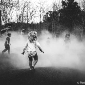 child running in to mist, Daily Fan favorite by Moments by Mancuso
