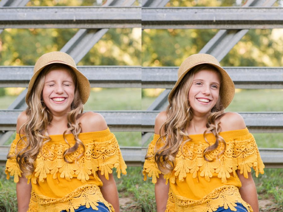 Portraits of girl, posing inspiration for teen session, Sweet 13 Photo Session in North Carolina