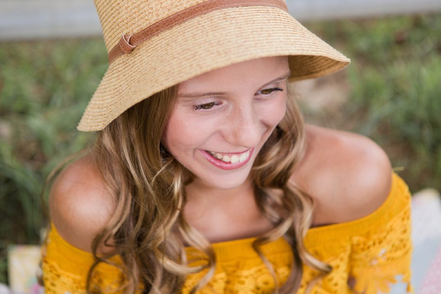 portrait of girl smiling, Sweet 13 Photo Session in North Carolina