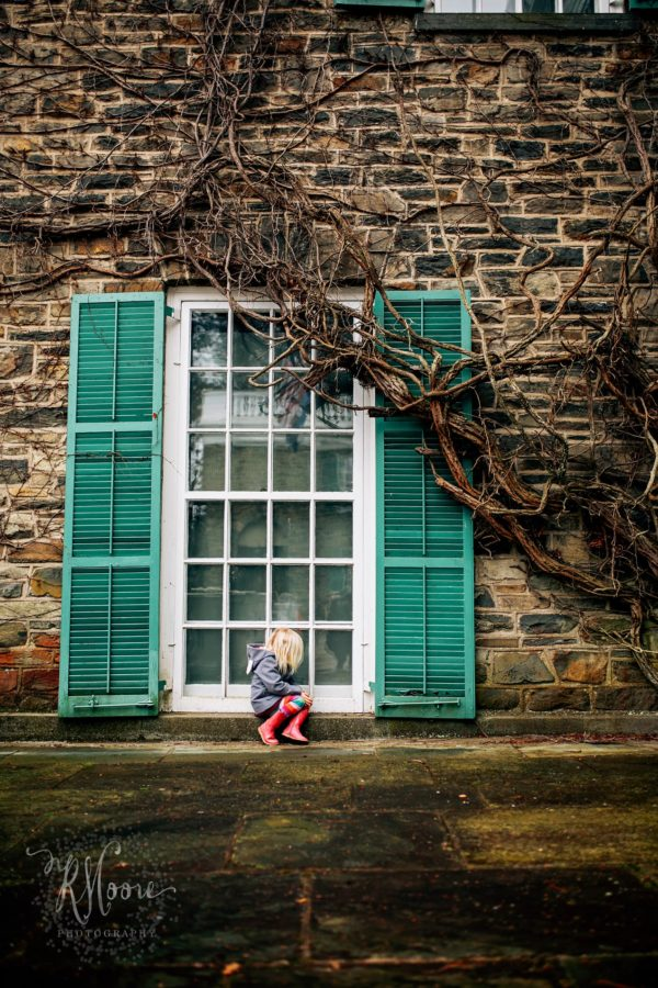 child sitting on sill of large window, teal shutters,  Daily Fan favorite on Beyond the Wanderlust