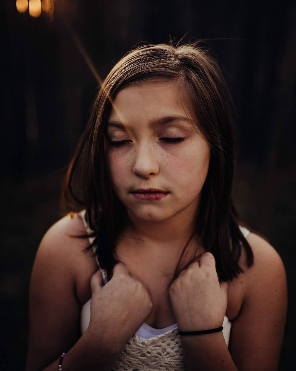 Portrait of girl lost in thought, Sarah Maverick Photography Daily Fan Favorite