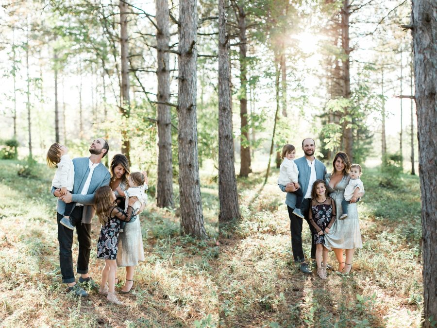 Family pictures in woods, Outdoor Family of 5 Photos in Wisconsin