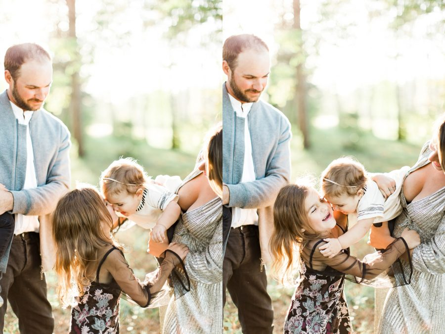 baby reaching for sibling, lifestyle family photo, Outdoor Family of 5 Photos in Wisconsin