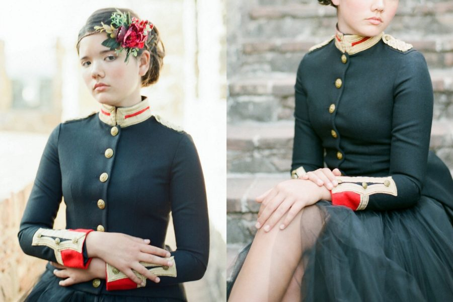 Styled child portraits, The Red Queen: Stylized Teen Photo Shoot in California
