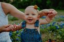 baby in blue bonnet field, Daily Fan Favorite by Olive Branch Photography