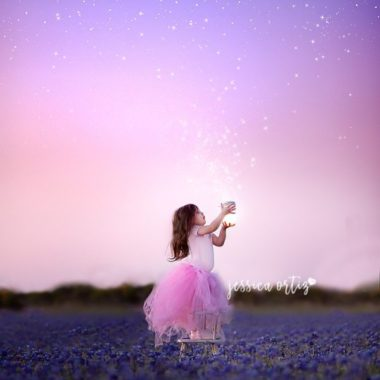 little girl in blue bonnet field, girl collecting stars, Jessica Ortiz Photography Daily Fan Favorite