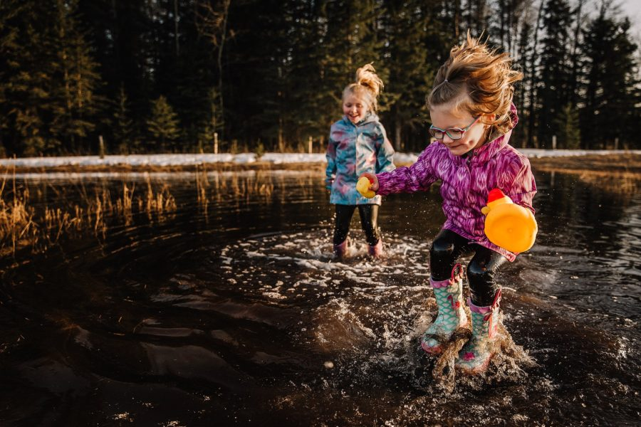 Children jumping in puddles, Daily Fan Favorite on Beyond the Wanderlust