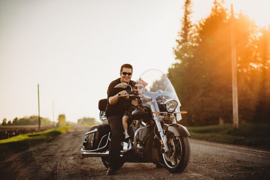 Man and child on motorcycle, Daily Fan Favorite on Beyond the Wanderlust