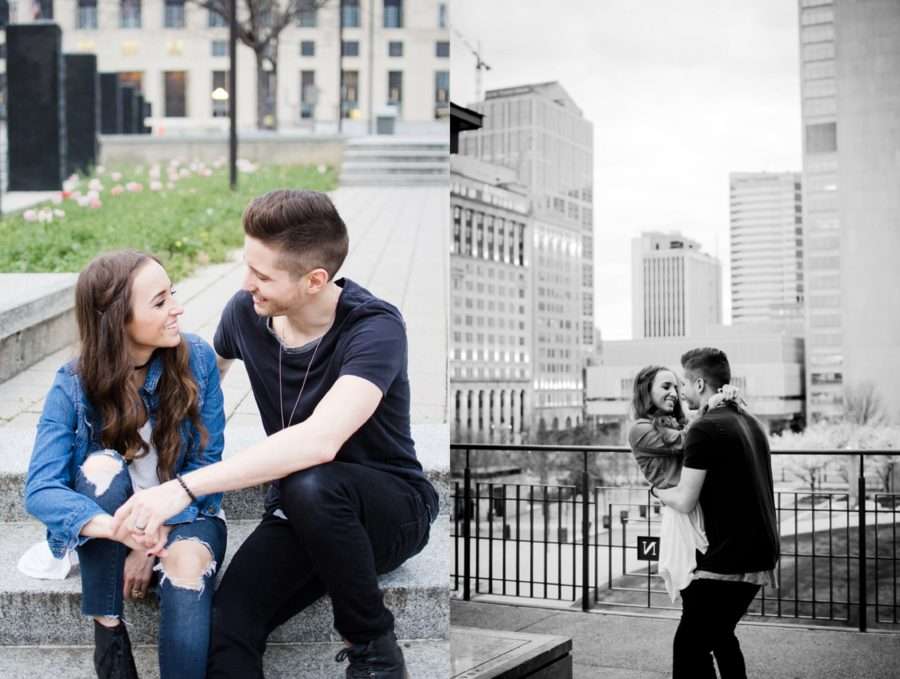 Posing ideas for pictures in the city, Nashville Lifestyle Couples Session