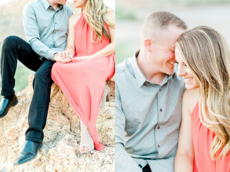 Detail shots of couple during engagement session, Canyon Lake Engagement Pictures in Arizona
