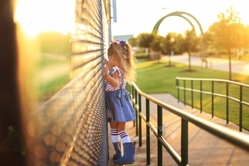 Girl dressed in red white and blue at golden hour, 12Twelve Photography Daily Fan Favorite