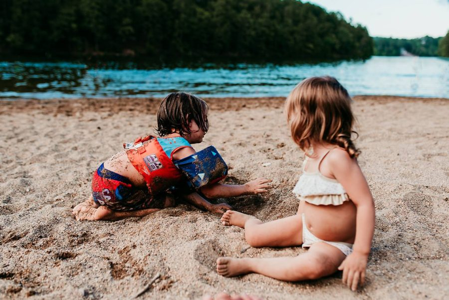 Kids playing on sandy beach, Beyond the Wanderlust Daily Fan Favorite