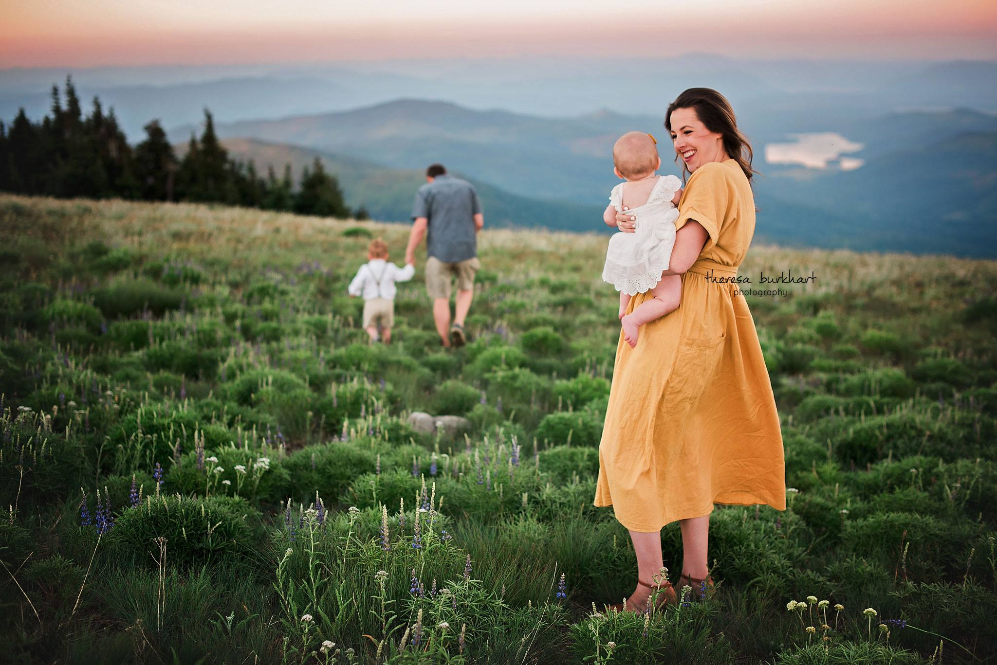 Theresa Burkhart Photography Daily Fan Favorite, Family walking through meadow