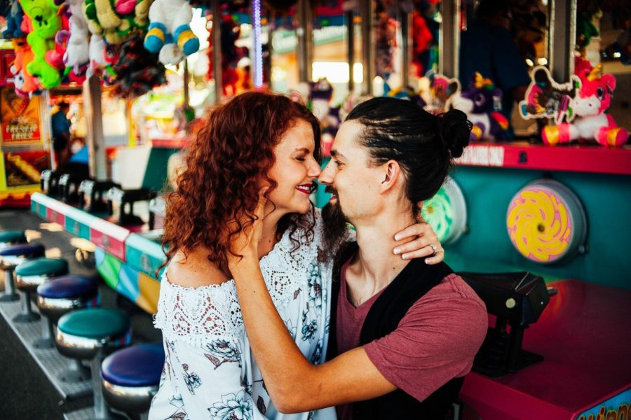 Engagement picture at the fair, Alaytra Photography Daily Fan Favorite
