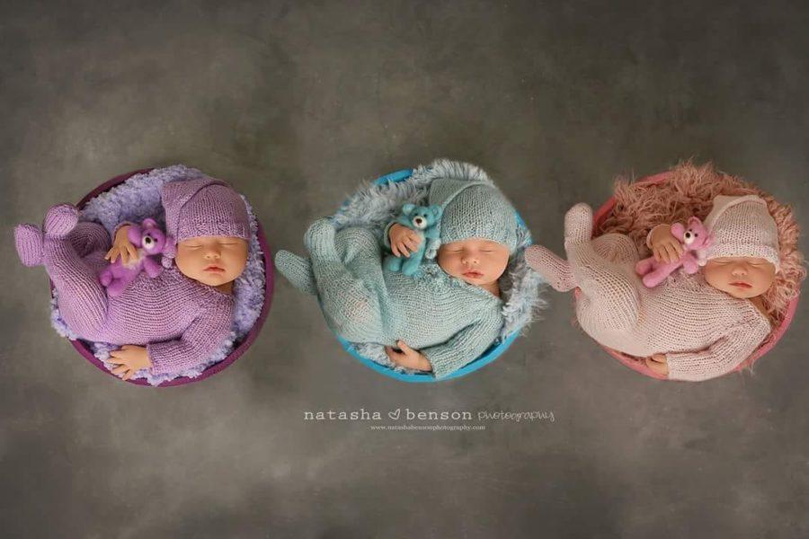Portrait of triplets from overhead, Beyond the Wanderlust Daily Fan Favorite