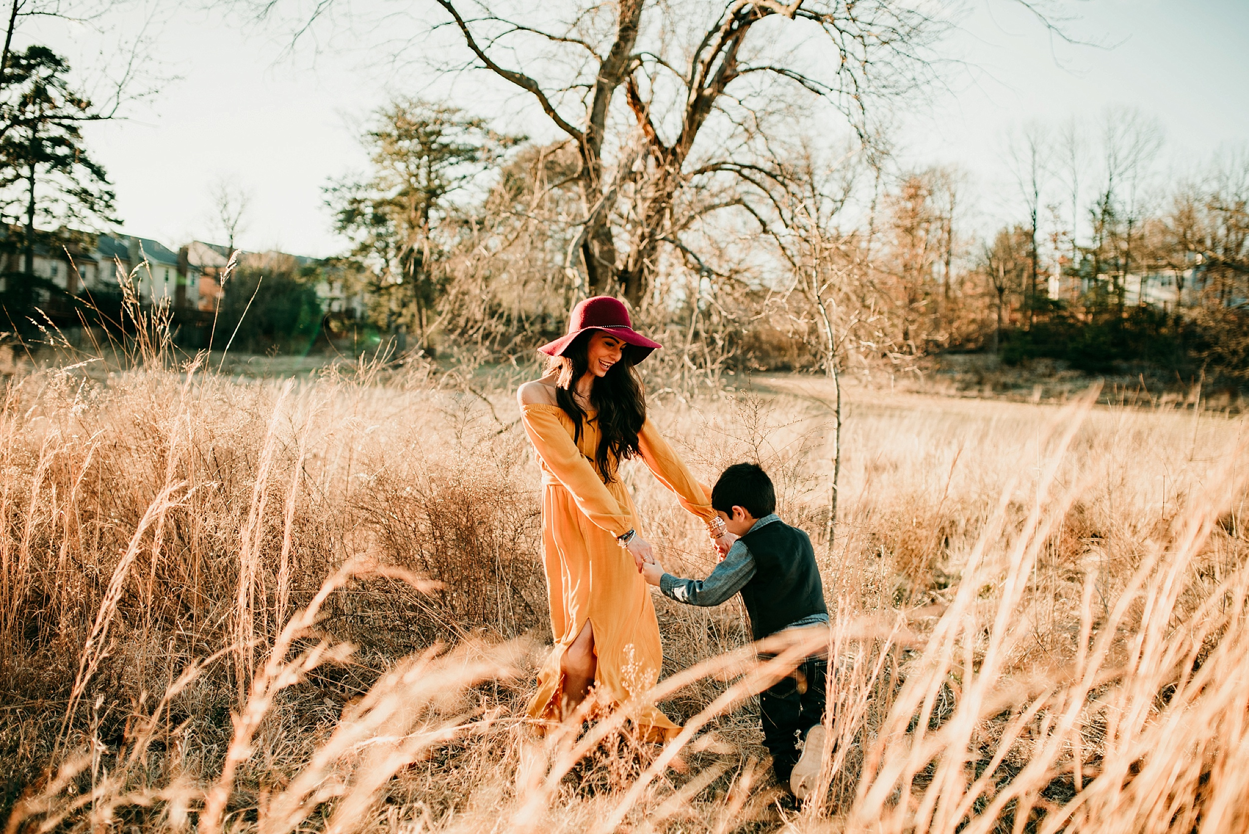 Northern Virginia Mother Son Golden Hour Session Beyond The