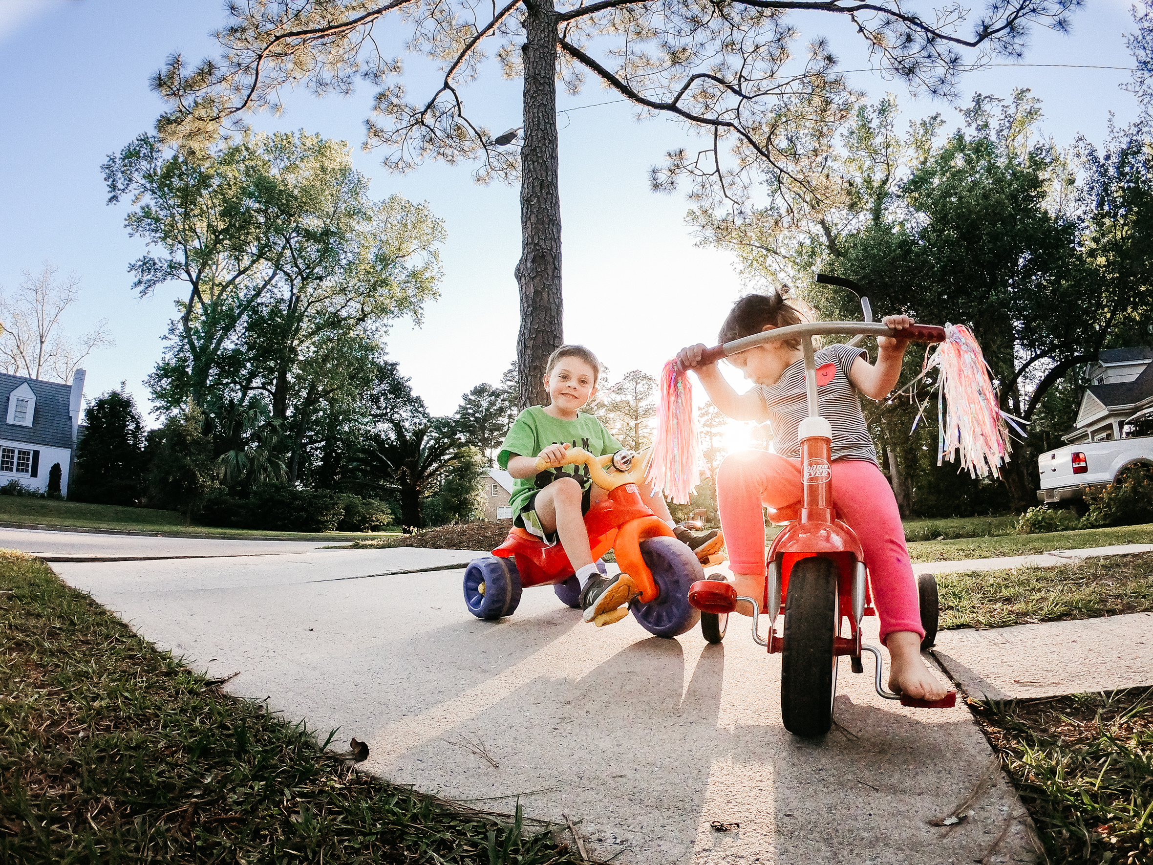 Go Pro, childhood pictures, summer childhood, kids riding bikes, lifestyle summer kid pictures